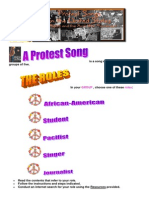 Protest Songs Webquest Roles and Tasks