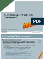 (25) Blocking of PS Calls No Resource INTERNAL