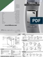 Fellowes Powershred C-380 Commercial Paper Shredder - 38380