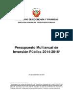 Ppto Multiplican Inversión Publica 2014 2016