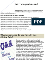 Top 10 clinical interview questions and answers.pptx