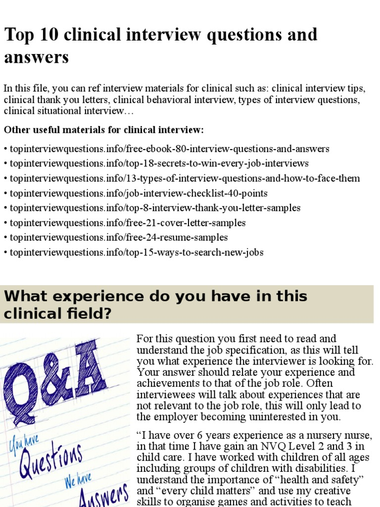 Top 10 clinical interview questions and answers.pptx ...