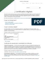Assinaturas e Certificados Digitais