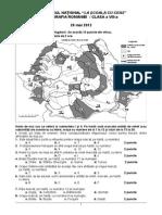 G Sub Si Bareme Clasa a VIII-A
