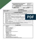 Ficha Descripcion de Funciones y Competencias Laborales Jefe de Planta