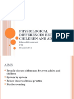 Physiological Differences Between Children and Adults