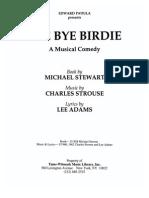 Bye Bye Birdie Script MTI