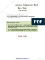 Free Situational Judgement Test Questions