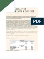 Proposiciones Modigliani