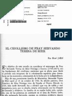 El Criollismo de Fray Servando by Rene Jara