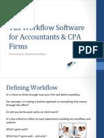 Tax Workflow Software