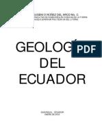 Libro Geologia Del Ecuador por Ing. Nuñez del Arco