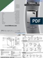 Fellowes Powershred C-380C Commercial Paper Shredder - 38385