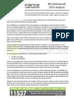 JEE Advanced 2014 Analysis by RK Verma Sir