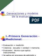 Generaciones y Modelos Evaluacion