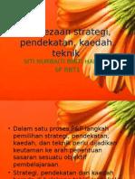 Perbezaan strategi, pendekatan, kaedah, teknik.pptx
