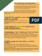 7 Tacticas Para No Desaprobar