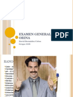 Examen General de Orina