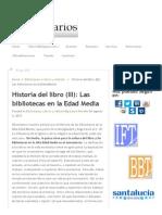 Historia Del Libro (III)_ Las Bibliotecas en La Edad Media - BiblogTecarios