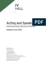Trinity Syllabus Extract 2010