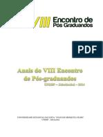 Anais VIII Encontro Pos Graduacao UNESP FCAV