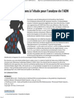 JIM.fr - D'Autres Indications à l'Étude Pour l'Analyse de l'ADN Foetal Circulant