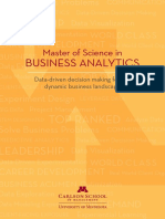 Carlson School MS in Business Analytics Brochure 2014
