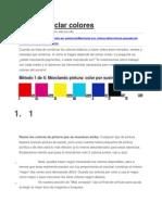 Cómo Mezclar Colores