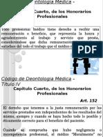 Codigo de Deontologia Medica - Honorarios Profesionales