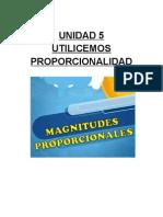 Unidad 5 Proporcionalidad