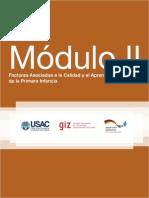 Modulo II Calidad y Aprendizaje