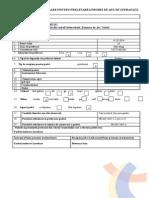 Buletin de Inregistrare Proba Apa