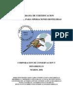 Programa de Certificacion Ambiental Para Operaciones Hoteleras Marzo 2001, Make a donation@ccd.org.ec / Haga una donación