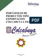 PORTAFOLIO EXPORTACION COLCABUYA
