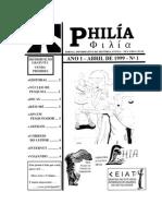 Edição 01  - PHILIA