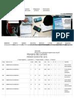 Horario cursos 2015