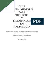 Guia y Ayuda Para Tecnicos y Licenciados en Radiologia