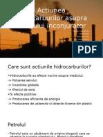 Actiunea Hidrocarburilor Asupra Mediului Inconjurator