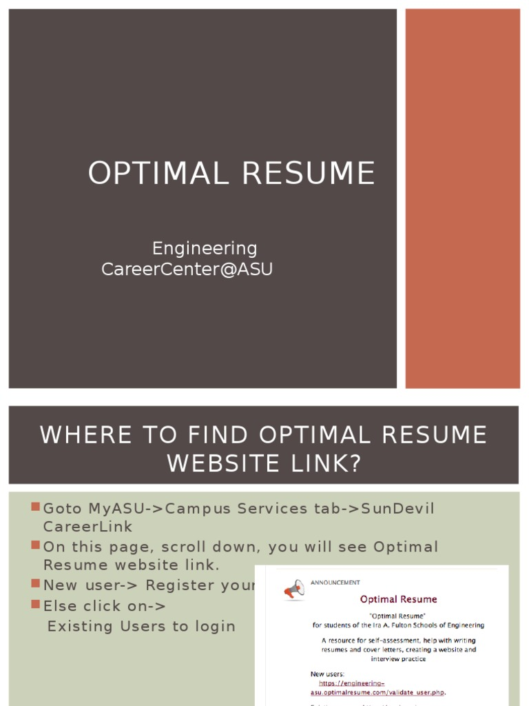 optimal resume résumé websites