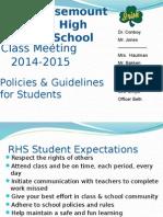 9th grade class meeting 2014-15