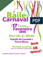 convite baile carnaval