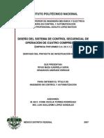 Control Secuencial de Cuatro Compresores