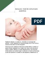 Masajul Bebelusului- Forma de Comunicare Autentica