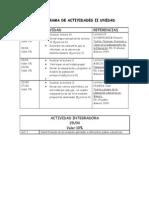 CRONOGRAMA DE ACTIVIDADES I I UNIDAD para sem