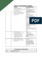 CRONOGRAMA DE ACTIVIDADES I UNIDAD