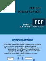 Power System 3 -Power Transformer EEE3233