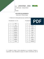 Relatório - Pêndulo Simples