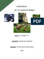 Unidad Didactica Animales Del Zoo