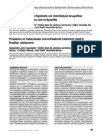 Prevalence of Malocclusion and Orthodontic Treatment Need in Brazilian