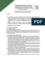 Posafro Edital Selecao 2014 2015